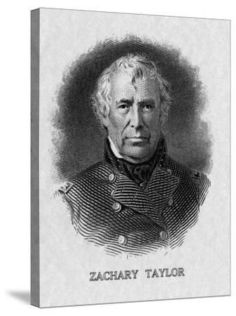 US President Zachary Taylor--Stretched Canvas Print