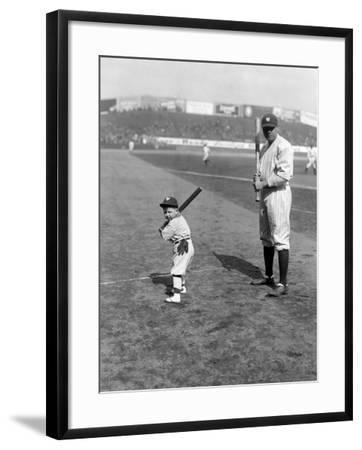 Babe Ruth and Mascot, 1922--Framed Photo