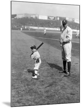 Babe Ruth and Mascot, 1922--Mounted Photo