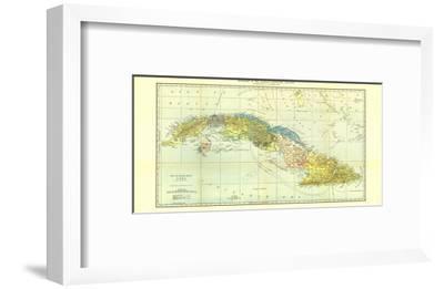 1906 Cuba Map-National Geographic Maps-Framed Art Print