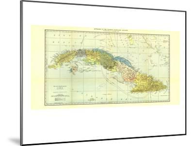 1906 Cuba Map-National Geographic Maps-Mounted Art Print