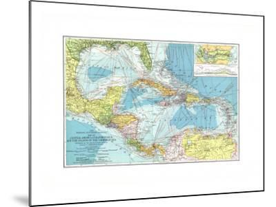 1913 Central America, Cuba, Porto Rico, and the Islands of the Caribbean Sea-National Geographic Maps-Mounted Art Print