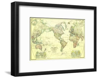 1922 World Map Art Print By National Geographic Maps Art Com