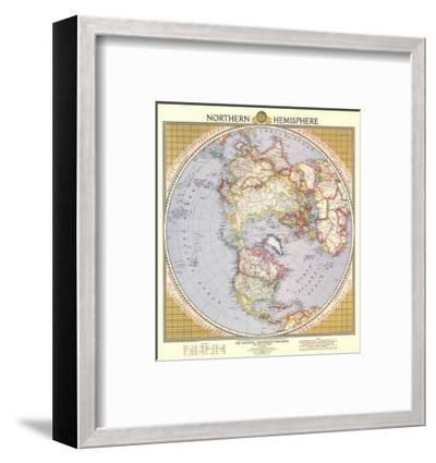 1946 Northern Hemisphere Map-National Geographic Maps-Framed Art Print