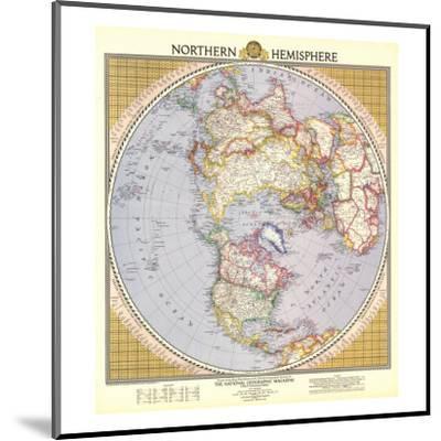 1946 Northern Hemisphere Map-National Geographic Maps-Mounted Art Print