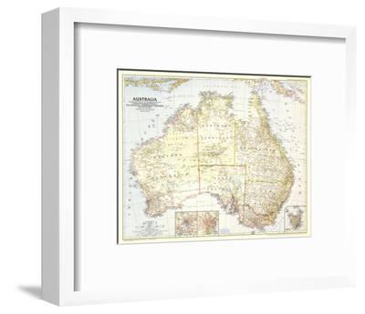 1948 World Map.1948 Australia Map Art Print By National Geographic Maps Art Com