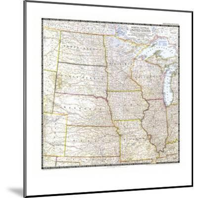 North Central Us Map.1948 North Central United States Map Art Print By National