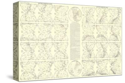 1957 Heavens Star Chart-National Geographic Maps-Stretched Canvas Print