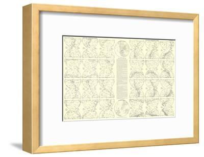 1957 Heavens Star Chart-National Geographic Maps-Framed Art Print