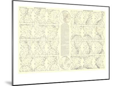 1957 Heavens Star Chart-National Geographic Maps-Mounted Art Print