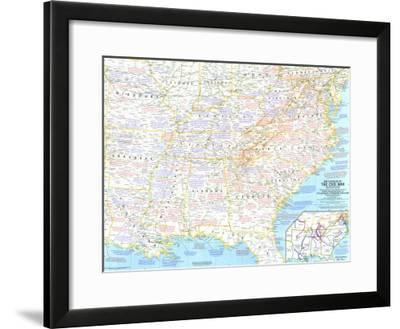 1961 Battlefields of the Civil War Map-National Geographic Maps-Framed Art Print