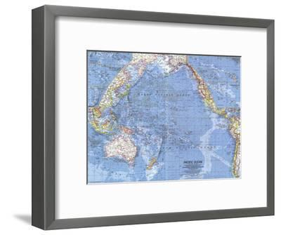 1962 Pacific Islands Map-National Geographic Maps-Framed Art Print