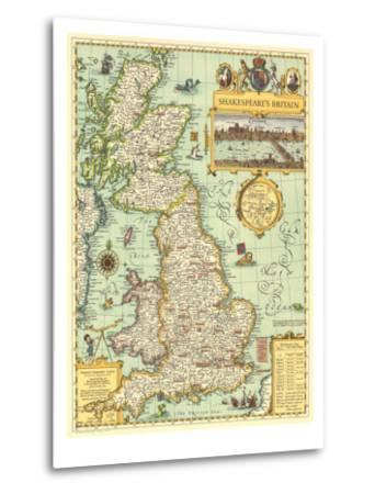 1964 Shakespeares Britain Map-National Geographic Maps-Metal Print