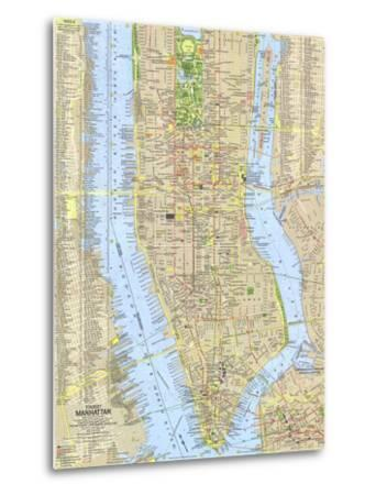 photo relating to Printable Maps of Manhattan titled 1964 Vacationer Manhattan Map Artwork Print through Nationwide Geographic Maps