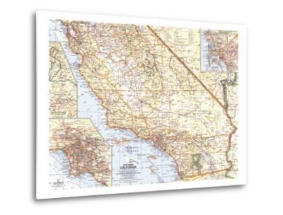 1966 Southern California Map-National Geographic Maps-Metal Print