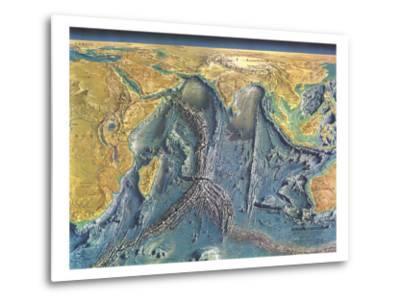 1967 Indian Ocean Floor Map-National Geographic Maps-Metal Print