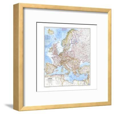 1969 Europe Map-National Geographic Maps-Framed Art Print