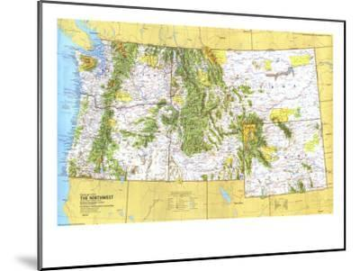 1973 Close-up USA, Northwest Map-National Geographic Maps-Mounted Art Print