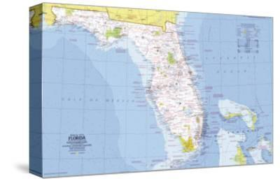 1973 Close-up USA, Florida Map-National Geographic Maps-Stretched Canvas Print