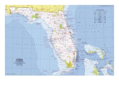 1973 Close-up USA, Florida Map-National Geographic Maps-Art Print