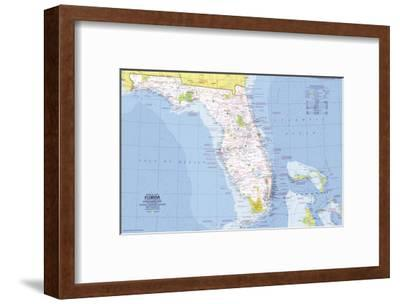 1973 Close-up USA, Florida Map-National Geographic Maps-Framed Art Print