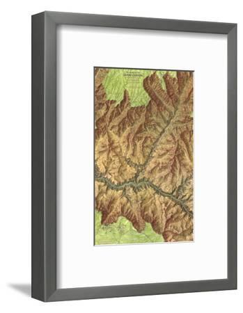 1978 Heart of the Grand Canyon Map-National Geographic Maps-Framed Premium Giclee Print