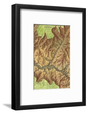 1978 Heart of the Grand Canyon Map-National Geographic Maps-Framed Art Print