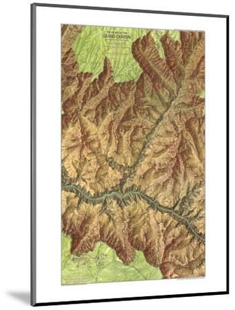 1978 Heart of the Grand Canyon Map-National Geographic Maps-Mounted Art Print