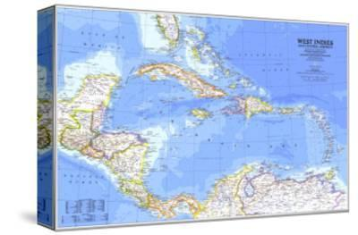 1981 West Indies and Central America Map-National Geographic Maps-Stretched Canvas Print