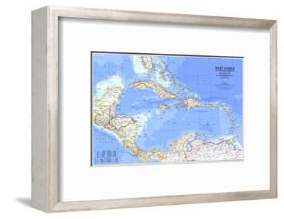 1981 West Indies and Central America Map-National Geographic Maps-Framed Art Print