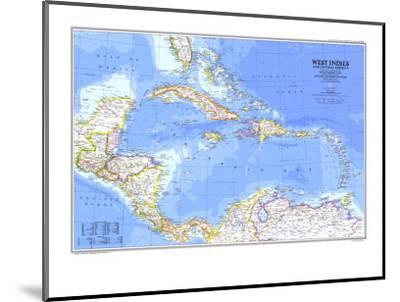 1981 West Indies and Central America Map-National Geographic Maps-Mounted Art Print