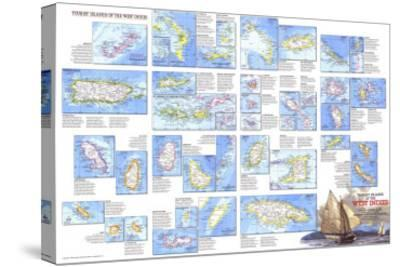 1981 Tourist Islands of the West Indies Map-National Geographic Maps-Stretched Canvas Print