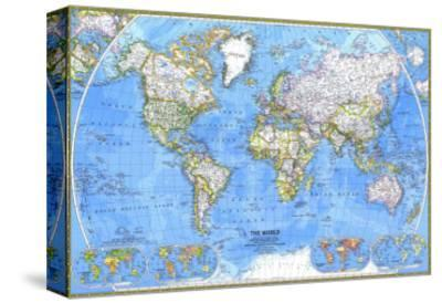 1981 World Map-National Geographic Maps-Stretched Canvas Print