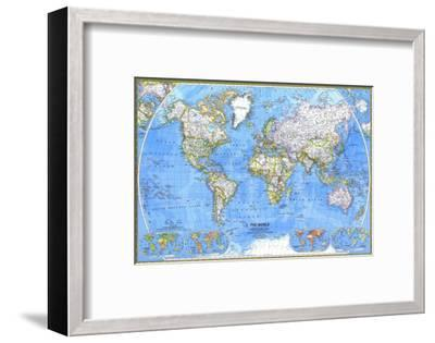 1981 World Map-National Geographic Maps-Framed Art Print