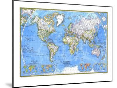 1981 World Map-National Geographic Maps-Mounted Art Print