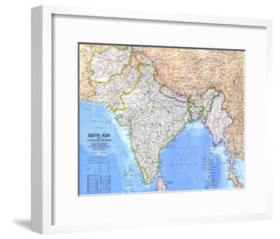 1984 South Asia With Afghanistan and Burma Map Art Print by National  Geographic Maps | Art.com