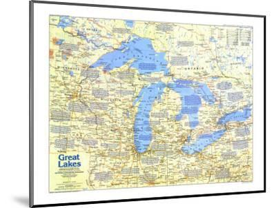 1987 Great Lakes Map Side 1-National Geographic Maps-Mounted Art Print
