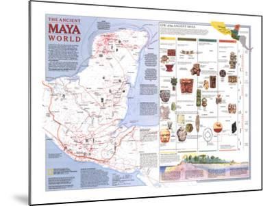 Maya World Map.1989 Ancient Maya World Map Art Print By National Geographic Maps