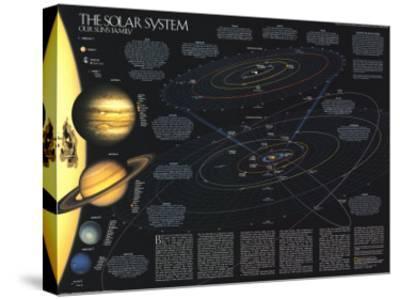 1990 Solar System-National Geographic Maps-Stretched Canvas Print