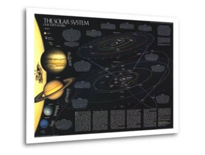 1990 Solar System-National Geographic Maps-Metal Print