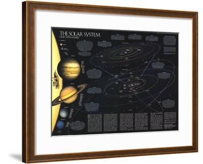 1990 Solar System-National Geographic Maps-Framed Art Print