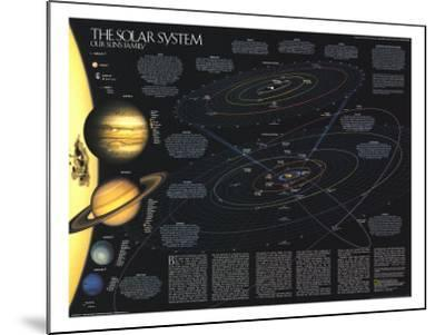 1990 Solar System-National Geographic Maps-Mounted Art Print