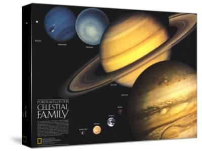 1990 Portraits of Our Celestial Family-National Geographic Maps-Stretched Canvas Print