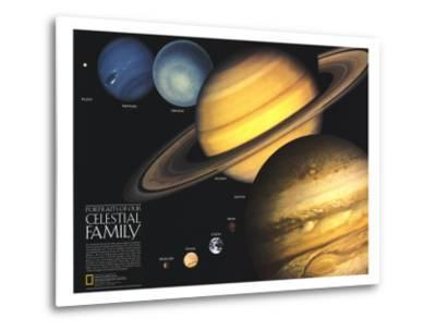1990 Portraits of Our Celestial Family-National Geographic Maps-Metal Print