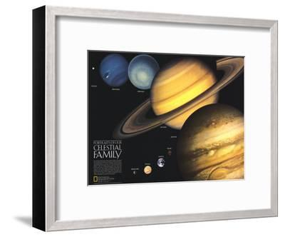 1990 Portraits of Our Celestial Family-National Geographic Maps-Framed Art Print