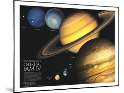 1990 Portraits of Our Celestial Family-National Geographic Maps-Mounted Art Print
