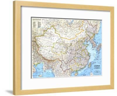 National Geographic Map Of China.1991 China Map Art Print By National Geographic Maps Art Com