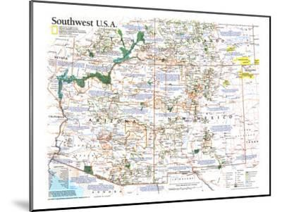 1992 Southwest Usa Map Art Print By National Geographic Maps Artcom - Southwest-map-us