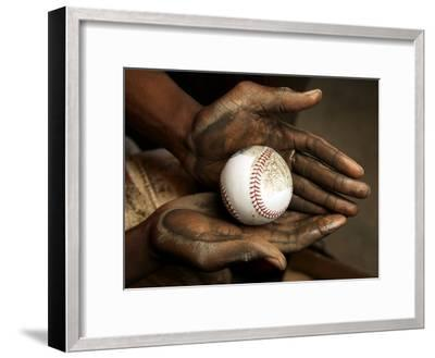 Balls are rubbed with mud before every major league baseball game-Rebecca Hale-Framed Photographic Print