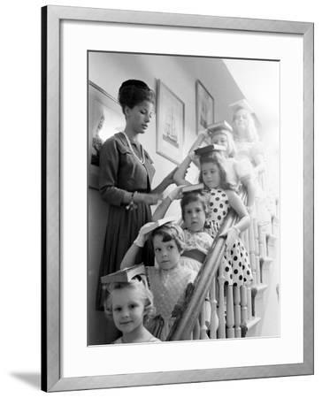 Moppets Charm School-Art Rickerby-Framed Photographic Print